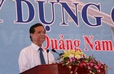 Quang Nam: mise en chantier du pont de Cua Dai