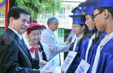 Félicitations du président aux enseignants et élèves