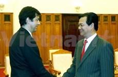 Réception des ambassadeurs d'Espagne et d'Algérie