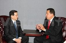 Le chef d'Etat rencontre des dirigeants à New York