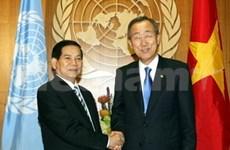 Nguyen Minh Triet est rentré d'Amérique