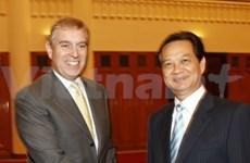 Le Premier ministre reçoit le prince britannique Andrew