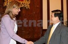 Le président vietnamien reçoit la princesse d'Espagne