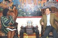 Le vice-PM reçoit la directrice nationale de la BM