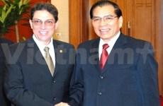 Le secrétaire général du PCV reçoit un haut dirigeant cubain