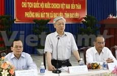 Le président Nguyen Phu Trong à Bac Lieu