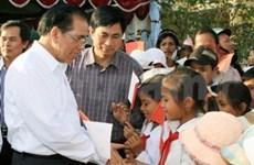 Le leader du PCV en tournée à Kon Tum