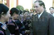 Le chef du PCV en tournée à Gia Lai