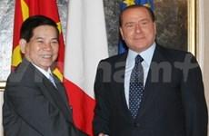 Le président vietnamien rencontre le PM italien