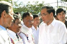 Tournée du leader du PCV à Dak Nong