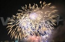 Les feux d'artifice à HCM-Ville pour le Nouvel An