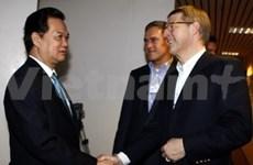 WEF 2010 : Nguyen Tan Dung s'adresse à la presse