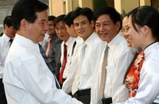 Visite du président Nguyen Minh Triet à Yen Bai