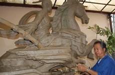 Moulage de la dernière partie de la statue du Génie Giong