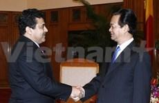 Le PM reçoit les nouveaux ambassadeurs de Palestine et du Soudan