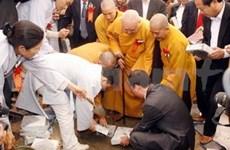 Mise en chantier du monastère Truc Lâm de Ham Rông