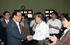 Le chef du PCV rencontre des électeurs de Thai Nguyên