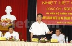 Le PM en tournée dans la province de Thai Binh