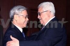Entrevue entre le président de l'AN et le chef de l'Etat palestinien