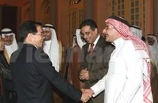 Nguyen Minh Triet reçoit des entrepreneurs d'Arabie saoudite