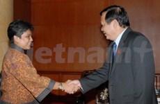 Une délégation parlementaire d'Indonésie au Vietnam