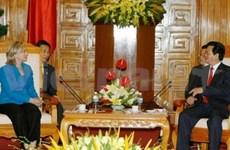 Le PM vietnamien reçoit la secrétaire d'Etat américaine