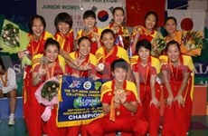 Volley-ball: la Chine, championne du tournoi junior féminin d'Asie