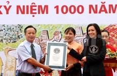 Record Guinness à la voie de la céramique à Hanoi