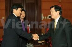Truong Tân Sang reçoit des parlementaires japonais