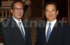 Le PM Nguyen Tan Dung reçoit le président philippin