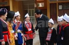 Truong Tan Sang en visite à Ha Giang