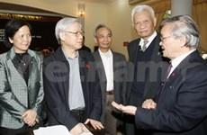 Nguyen Phu Trong rencontre les électeurs de Hanoi