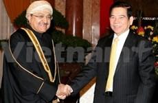 Nguyen Minh Triet reçoit un ministre omanais