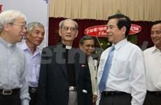 Le président salue les contributions des catholiques