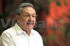 Félicitations au président de Cuba Raul Castro