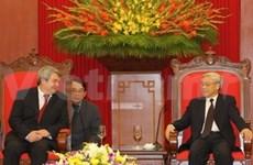 Nguyên Phu Trong reçoit une délégation tchèque