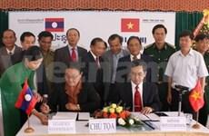 Densification des bornes frontalières Kon Tum-Attapeu