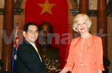 VN-Australie : Nguyen Minh Triet accueille Quentin Bryce