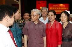 Nguyen Phu Trong rencontre des électeurs de Hanoi