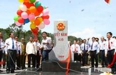 Inauguration d'une borne à la frontière Vietnam-Laos