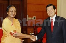 Vietnam-Inde : Truong Tan Sang reçoit Meira Kumar