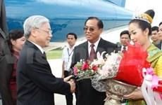 Le leader du PCV termine sa visite au Laos