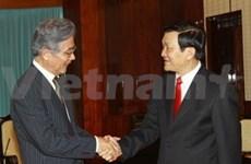 Truong Tan Sang reçoit le maire d'Osaka
