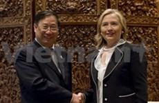 Pham Gia Khiem rencontre les chefs de la diplomatie américaine et russe