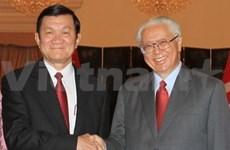 Truong Tan Sang entame sa visite d'Etat à Singapour