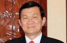 Truong Tan Sang débute sa visite d'Etat à Singapour et en Malaisie