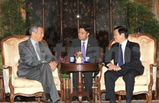 Entrevue Truong Tan Sang-Lee Hsien Loong