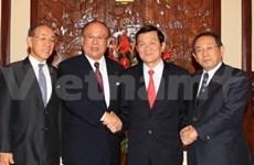 Le président Truong Tan Sang loue les liens Vietnam-Japon
