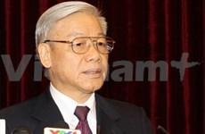 Nguyen Phu Trong en visite officielle en Chine