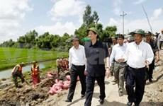Crues : Le PM en tournée de travail dans le delta du Mékong